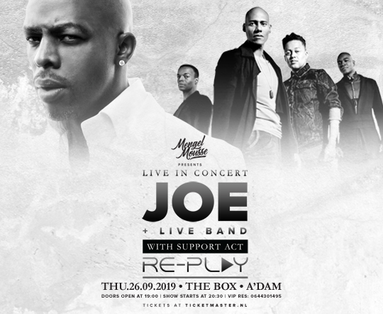 Joe live in the Box in Amsterdam with full band