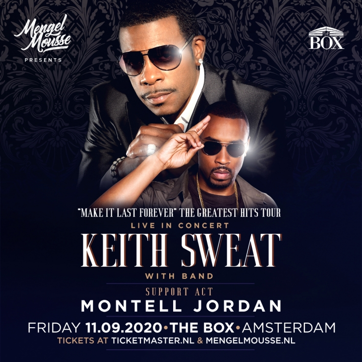 Keith Sweat live with band in the Box in Amsterdam
